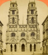 France Orleans Cathedrale Eglise Sainte Croix Ancienne Photo Stereo 1865 - Stereoscopic