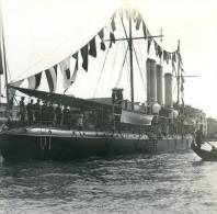 Italie Venise Visite De Guillaume II Croiseur Italien Ancienne Photo Stereo Possemiers 1908 - Stereoscopic