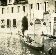 Italie Venise Promenade En Gondole Ancienne Photo Stereo Possemiers 1908 - Stereoscopic