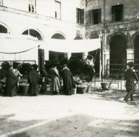 Italie Venise Marché Aux Fruits Ancienne Photo Stereo Possemiers 1908 - Stereoscopic