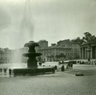Italie Rome Place Rusticucci Fountain Ancienne Photo Stereo Possemiers 1908 - Stereoscopic