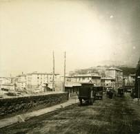 Italie Gênes Port Sur La Route Du Phare Ancienne Photo Stereo Possemiers 1908 - Stereoscopic