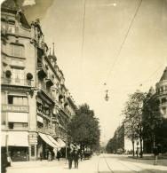 Suisse Zurich Tramway Ancienne NPG Stereo Photo 1906 - Photos Stéréoscopiques