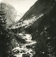 Suisse Alpes Vallée De La Reuss Ancienne Stereo Studio Anonyme Photo 1906 - Stereoscopic