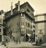 Suisse Alpes Lausanne Rue Du Pré Ancienne NPG Stereo Photo 1906 - Stereoscopic