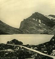 Suisse Alpes Col De La Gemmi Ancienne NPG Stereo Photo 1906 - Photos Stéréoscopiques