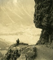 Suisse Alpes Col De La Gemmi Ancienne NPG Stereo Photo 1906 - Stereoscopic