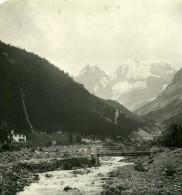Suisse Alpes Kandersteg Lac De Thoune Ancienne NPG Stereo Photo 1906 - Stereoscopic