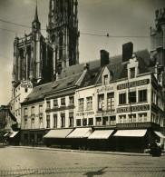 Belgique Port D Anvers Rue Aqueduc Ancienne NPG Stereo Photo 1906 - Photos Stéréoscopiques