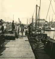 Belgique Port D Anvers Chargement D Un Chaland Ancienne NPG Stereo Photo 1906 - Stereoscopic