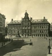 Belgique Port D Anvers Hotel De Ville Ancienne NPG Stereo Photo 1906 - Stereoscopic