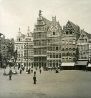 Belgique Port D Anvers La Maison Des Corporations Ancienne NPG Stereo Photo 1906 - Stereoscopic