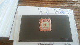 LOT 255037 TIMBRE DE ANDORRE NEUF**  N�11 VALEUR 55 EUROS