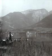 Autriche Salzkammergut Schafberg Ancienne Wurthle Stereo Photo 1906 - Stereoscopic