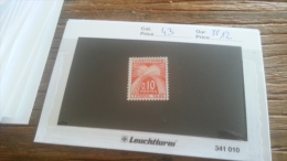 LOT 255046 TIMBRE DE ANDORRE NEUF** N�43 VALEUR 12 EUROS