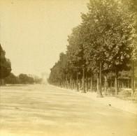 France Paris Avenue Des Champs Elysées Ancienne Stereo Photo 1875 - Stereoscopic