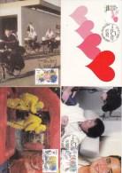 België, Maximumkaarten, Nr 3150/3155, Pompier, Police, ... (6003) - Police - Gendarmerie