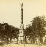 France Paris Place Du Chatelet Ancienne Stereo Photo 1875 - Fotos Estereoscópicas