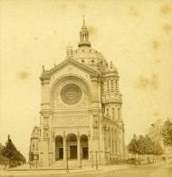 France Paris Eglise Saint Augustin Ancienne Debitte Stereo Photo 1875 - Stereoscopic