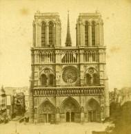 France Paris Eglise Notre Dame Ancienne Debitte Stereo Photo 1875 - Stereoscopic