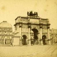 France Paris Louvre Carrousel Ancienne Debitte Stereo Photo 1875 - Stereoscopic