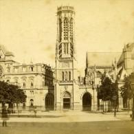 France Paris Eglise Saint Germain L Auxerrois Ancienne Debitte Stereo Photo 1875 - Stereoscopic