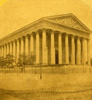 France Paris Eglise De La Madeleine Ancienne Stereo Photo 1875 - Stereoscopic