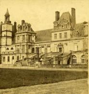 France Fontainebleau Chateau Ancienne NC Stereo Photo 1875 - Stereoscopic