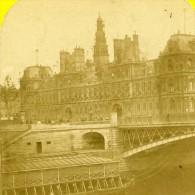 France Paris Hotel De Ville Ancienne Marinier Stereo Photo 1875 - Stereoscopic