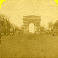 France Paris Photographe Sur Champs Elysees Ancienne Marinier Stereo Photo 1875 - Stereoscopic