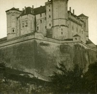 France Saumur Le Château Ancienne Stereo Photo Stereoscope 1900 - Stereoscopic