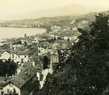 Suisse Clarens Montreux Ancienne Stereo Photo Stereoscope 1900 - Stereoscopic
