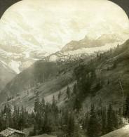 Suisse Murren Vallée De Lauterbrunnen Ancienne Stereo Photo Stereoscope William Rau 1900 - Stereoscopic