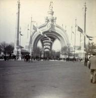 France Paris Place De La Concorde Entree Exposition Universelle Ancienne Stereo Photo 1900 - Stereoscopic