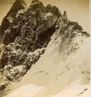 France Alpes Grand Pic De La Meije Ancienne Stereo Photo Stereoscope E.C. 1880 - Stereoscopic