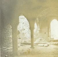 France Ruines D'une Abbaye Non Identifiée Ancienne Stereo Photo Stereoscope 1900 - Stereoscopic