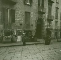 Italie Naples Echoppe De Boucher Ancienne Stereo Photo Stereoscope Possemiers 1910 - Stereoscopic