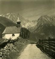 Italie Alpes Dolomites Panorama De La Vallee Di Anterselva Ancienne Stereo Photo NPG 1900 - Stereoscopic