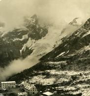 Italie Alpes Dolomites Passo Dello Stelvio Franzenshohe Ancienne Stereo Photo Stereoscope NPG 1900 - Stereoscopic