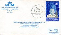 URUGUAY. Enveloppe Commémorative De 1976. Vol Montevideo-Amsterdam. - Avions