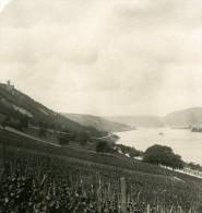 Allemagne Le Rhin Burg Sooneck Ancienne Stereo Photo Stereoscope NPG 1900 - Stereoscopic