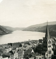 Allemagne Le Rhin Bacharach Panorama Ancienne Stereo Photo Stereoscope NPG 1900 - Photos Stéréoscopiques