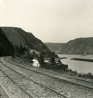 Allemagne Le Rhin Sankt Goar Panorama Ancienne Stereo Photo Stereoscope NPG 1900 - Photos Stéréoscopiques