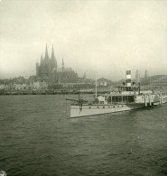 Allemagne Le Rhin Cologne Koln Panorama Ancienne Stereo Photo Stereoscope NPG 1900 - Photos Stéréoscopiques