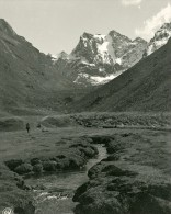 Bolivie Cordillere Des Andes Montagne Quinza Cruz Ancienne Stereo Photo Stereoscope NPG 1900 - Stereoscopic