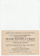- 76 - NOTRE-DAME-DE-BONDEVILLE - Grande Matinée , 10 Janvier 1909 - 045 - Programmes