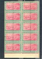 SUDAN -  1902 -  ARMY MILITARY TELEGRAPHS PERF ISSUE 10 PIASTER  - Block 10 -  MNH - Sudan (1954-...)