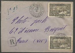 LETTRE RECOMMANDE DE ST-CLAUDE 1921 / GUADELOUPE   AVEC  N� 63 TTB