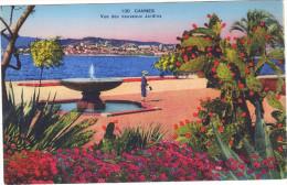 Cannes . Vue Des Nouveaux Jardins . Voyagée 1938 . - Cannes