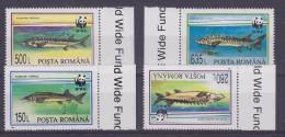 Romania 1993 WWF / Fishes 4v ** Mnh (21319) - W.W.F.
